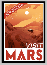 Load image into Gallery viewer, SKU: VISITMARS Visit Mars Poster, Mars Space Poster