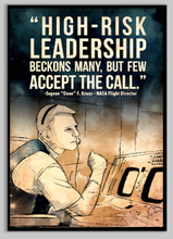 Load image into Gallery viewer, SKU: KRANZ Eugene Kranz NASA Flight Director Space Quote Poster