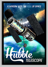 Load image into Gallery viewer, SKU: HUBBLE Hubble Telescope Travel Poster