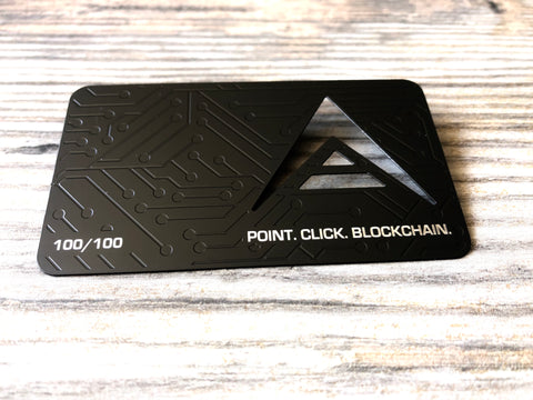 Ark Black Metal Wallet - Limited To 100 Point - Click, Blockchain.