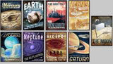 SKU: FUTURESETOF9 Futuristic Planet Series Poster Collection, set of 9, PRINT Format