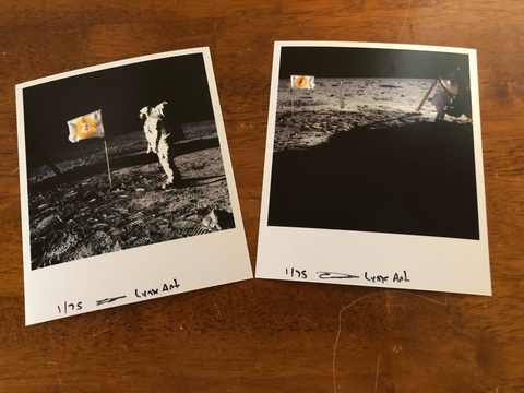 Bitcoin Moon Mission Photo Set of 2, Limited to 75