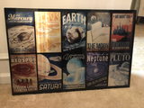 Retro Futuristic Space Series Metal Panel, Limited to 30