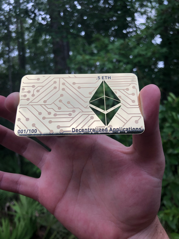 .5 ETH Ethereum Chrome Gold Metal Wallet, Unloaded