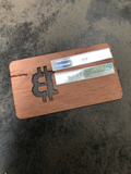 Bitcoin Red Cedar Wood Wallet, Unloaded