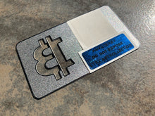 Load image into Gallery viewer, SOLD OUT!  Bitcoin .01 BTC Sandblasted Silver Metal Wallet, Limited to 100