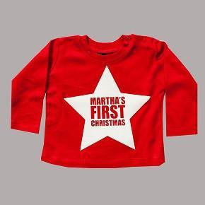 First Christmas Personalised Star Top