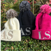 Monogrammed Pom Pom Hat for Kids!