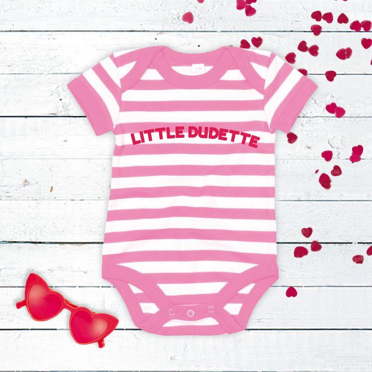 Little Dudette Striped Baby Vest