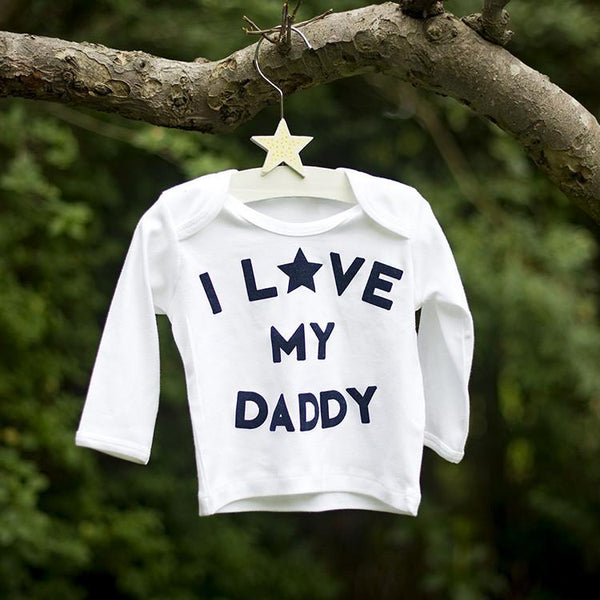 I love my daddy long sleeve top garden shot