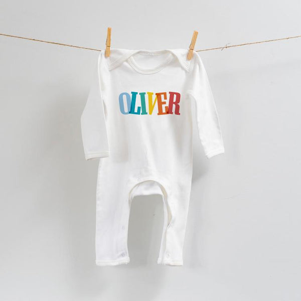 Fun Personalised Romper in Pastels or Brights
