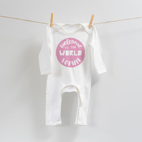 Personalised Welcome to the World Romper