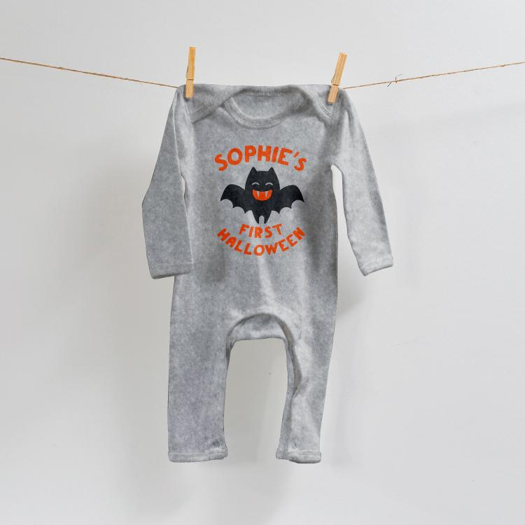 Personalised Baby's First Halloween Romper