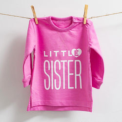 Little Sister Bright Pink Sweatshirt