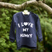 I Love My Mummy Sweatshirt long sleeve top in navy garden shot