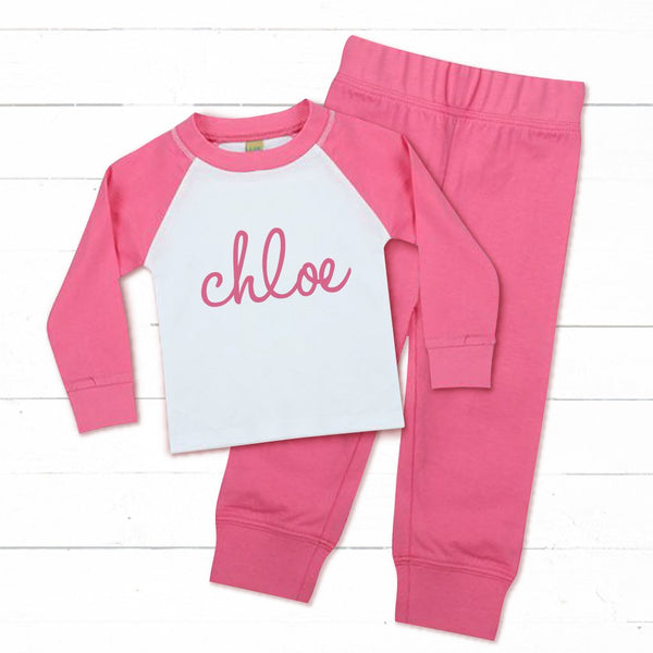 Personalised Baby and Toddler's Pink Pyjamas