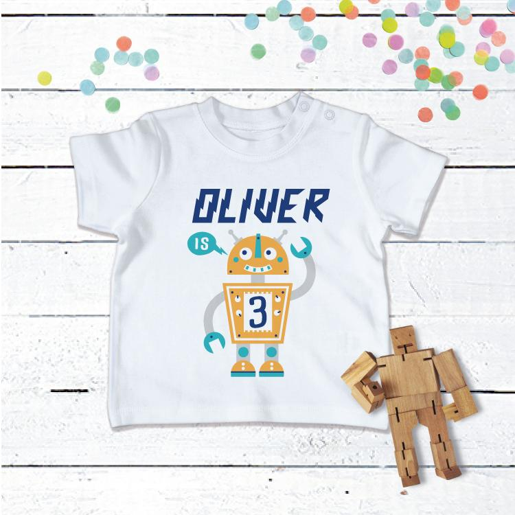 Personalised Baby Robot T-Shirt