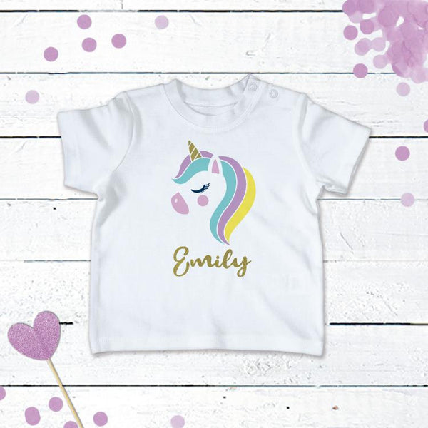 Personalised Unicorn T-Shirt