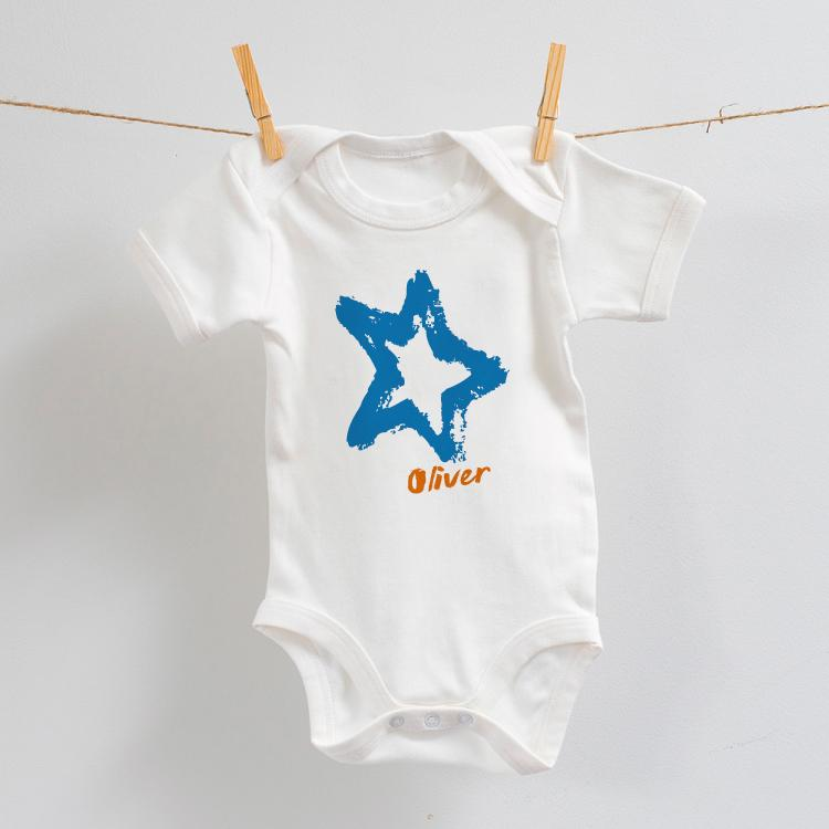 Blue Star Design on Bodysuit