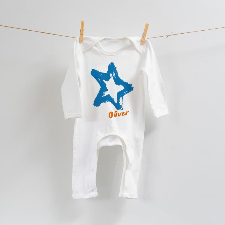 Blue Star Design on Romper