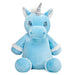 Personalised Blue Unicorn Soft Toy For Baby