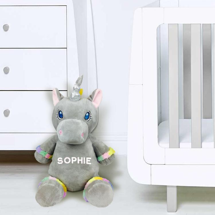 Personalised Grey Unicorn