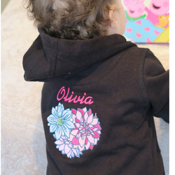 Personalised Baby Hooded Top Black