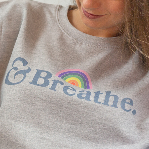 Breathe Grey sweatshirt