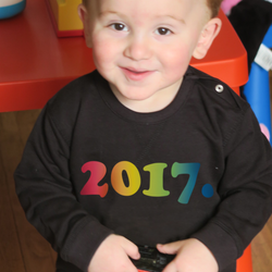 Rainbow Year of Birth Organic Sweatshirt