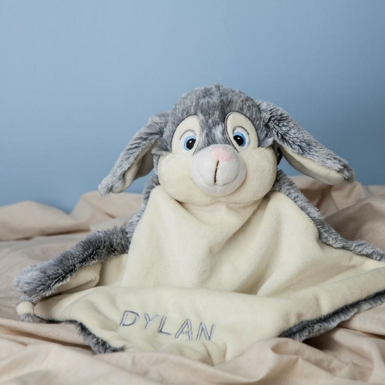 Personalised Grey Bunny Comforter