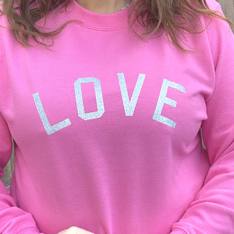 Love Glitter Candy Pink sweatshirt