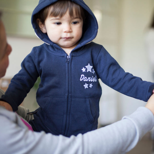 Personalised Blue Baby Tracksuit with Star Design