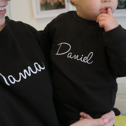 Personalised Handwriting Sweatshirt in Black