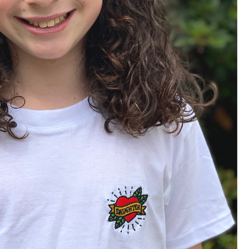 Heart Tattoo 'Mum' T-Shirt for Mummies