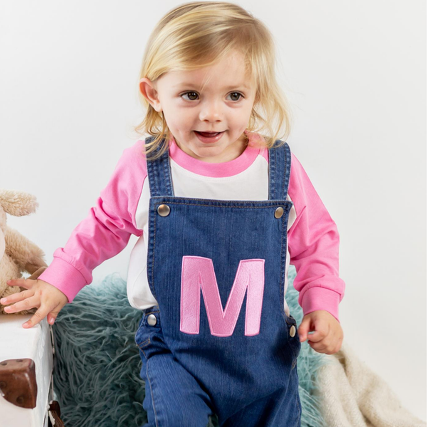 Personalised Organic Denim Dungarees