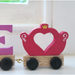Unicorn and Fairy Carriage Bright Coloured Wooden Name Train
