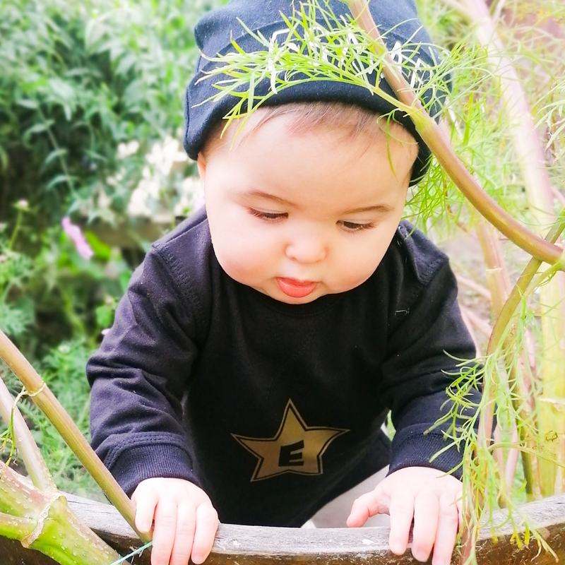Organic Baby Initial Sweatshirt with Star