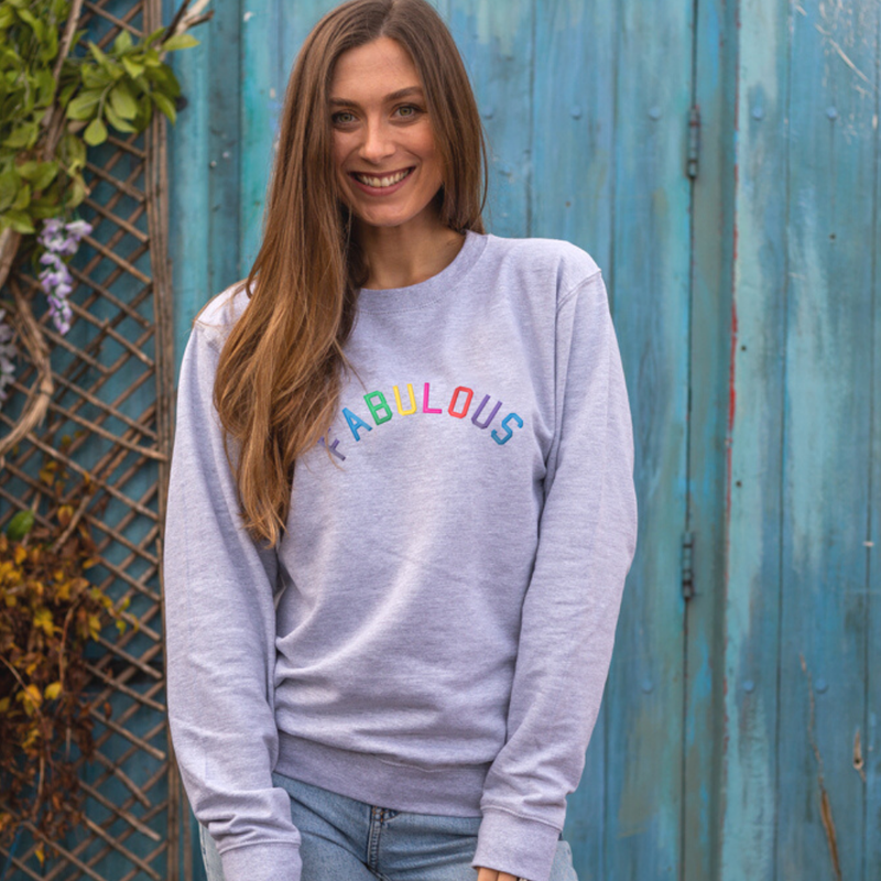 Fabulous Embroidered Grey sweatshirt