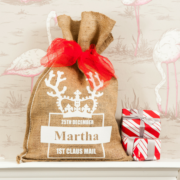 Personalised First Claus Mail Christmas Sack