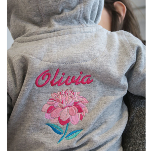 Personalised Baby Hooded Top with Beautiful Embroidery