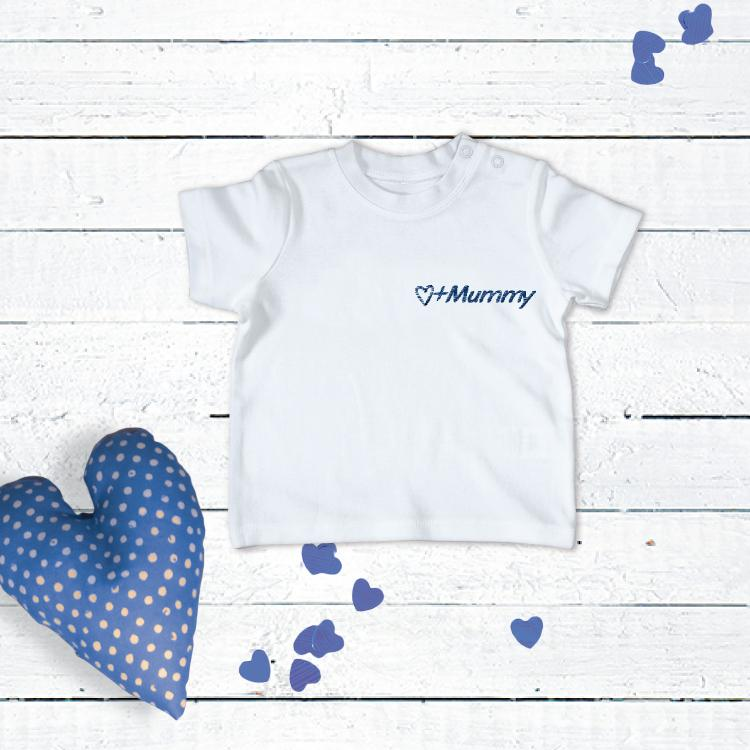 "Personalised Embroidered ""Mummy"" T-Shirt 0-2 years"