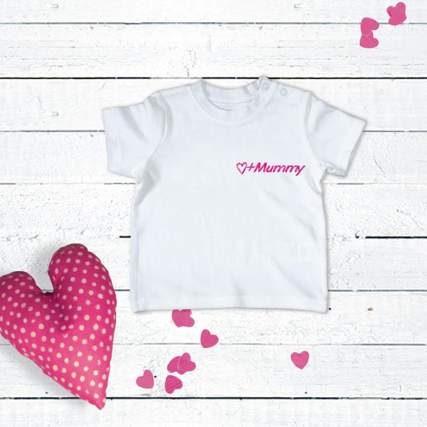 Personalised Embroidered Slogan T-Shirt for 0-2 years