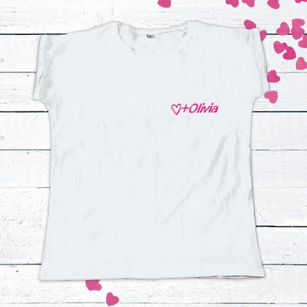 Personalised Embroidered Slogan White T-Shirt