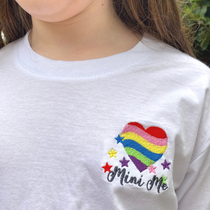 Heart and Stars Rainbow 'Mamma' T-Shirt for Mummies