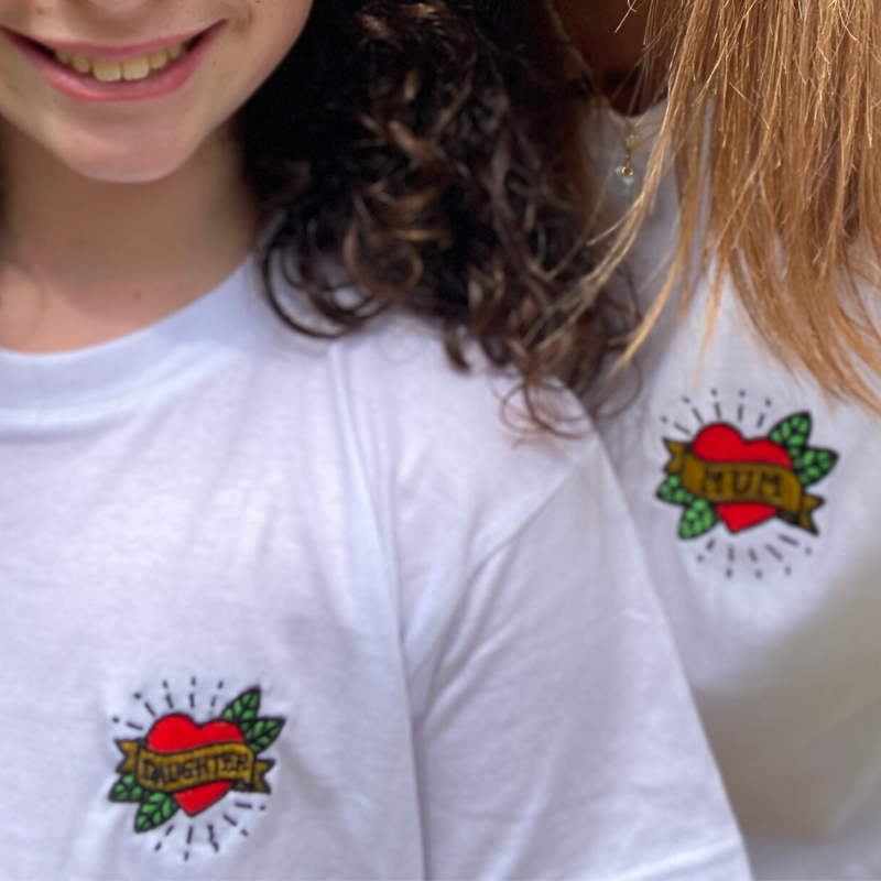 Heart Tattoo Son or Daughter T-Shirt Age 3+