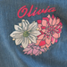 Personalised Organic Denim Jacket with Rose