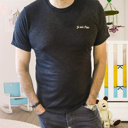Je Suis Papa Embroidered T-Shirt  - Perfect for Father's Day