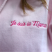 Embroidered maman hooded sweatshirt