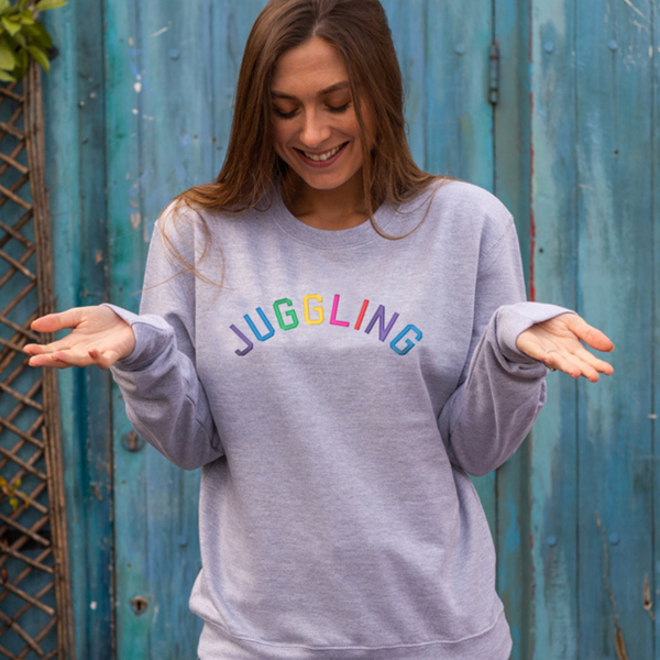 Juggling Embroidered Grey sweatshirt