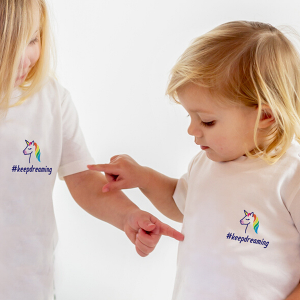 Child's #keepdreaming Unicorn T-Shirt with NHS donation